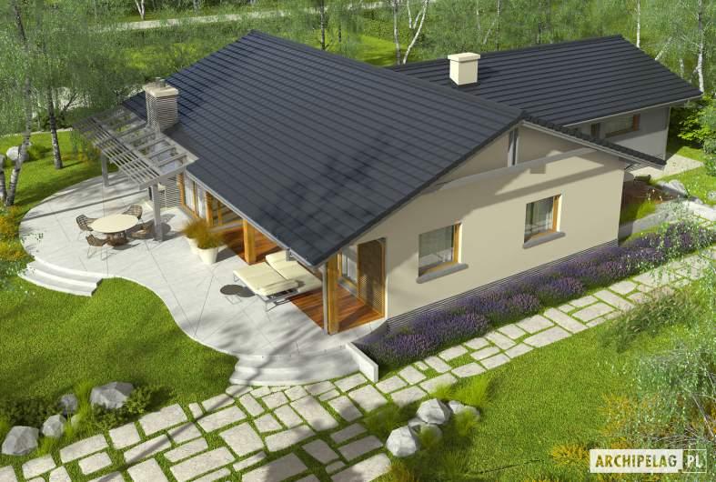 Projekt domu Selena G2 (30 stopni) - Projekty domów ARCHIPELAG - Selena G2 (30 stopni) - widok z góry