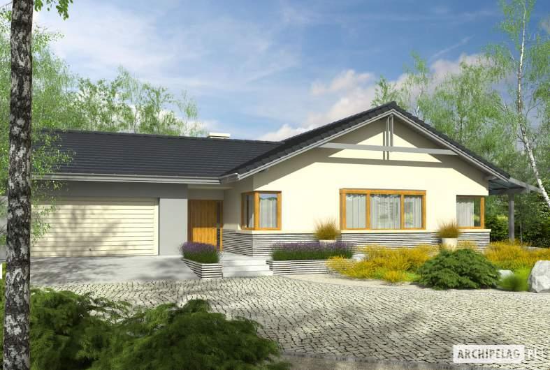 Projekt domu Selena G2 (30 stopni) - Projekty domów ARCHIPELAG - Selena G2 (30 stopni) - wizualizacja frontowa