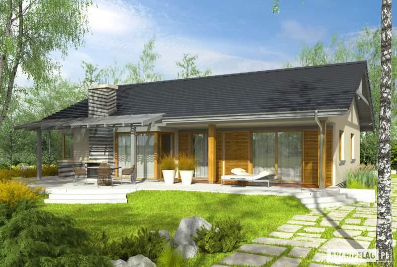 Projekt domu Selena G2 (30 stopni) - Projekty domów ARCHIPELAG - Selena G2 (30 stopni) - wizualizacja ogrodowa
