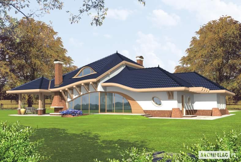 Projekt domu Wacław G2 - wizualizacja ogrodowa