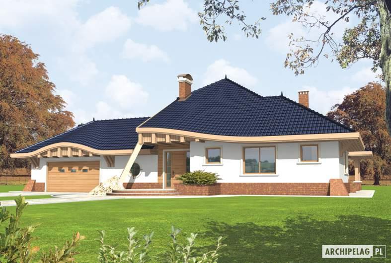 Projekt domu Wacław G2 - wizualizacja frontowa