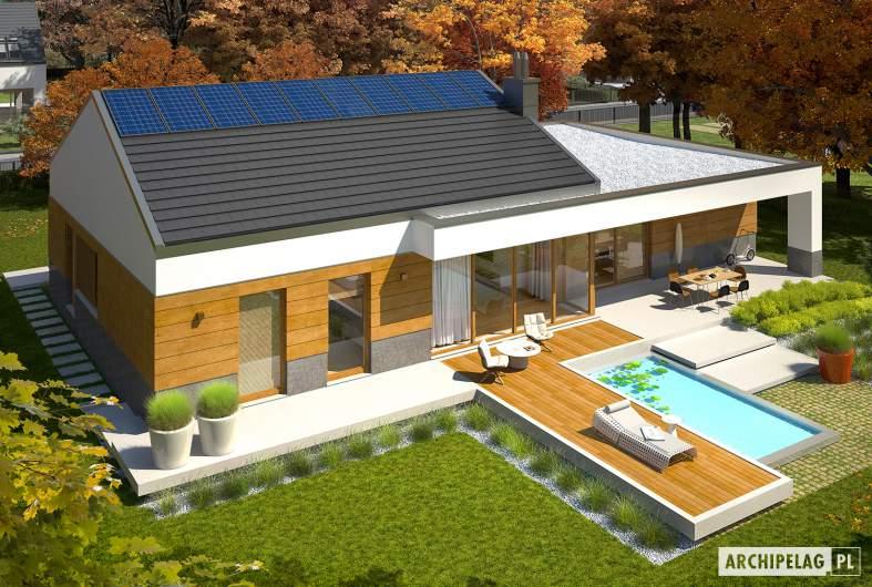 Projekt domu EX 11 G2 (wersja D) MULTI-COMFORT - Projekty domów ARCHIPELAG - EX 11 G2 (wersja D) MULTI-COMFORT - widok z góry
