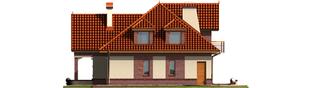 Projekt domu Liwia G1 - elewacja prawa