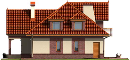 Livia G1 - Projekty domów ARCHIPELAG - Liwia G1 - elewacja prawa
