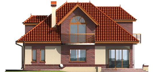Livia G1 - Projekty domów ARCHIPELAG - Liwia G1 - elewacja tylna