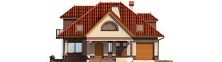 Projekt domu Liwia G1 - elewacja frontowa
