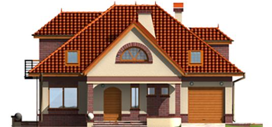Livia G1 - Projekty domów ARCHIPELAG - Liwia G1 - elewacja frontowa