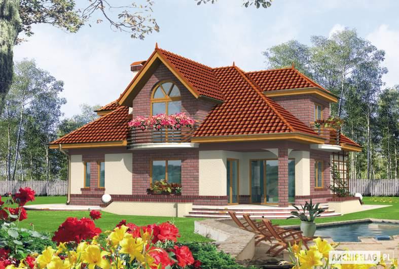 Projekt domu Liwia G1 - Projekty domów ARCHIPELAG - Liwia G1 - wizualizacja ogrodowa