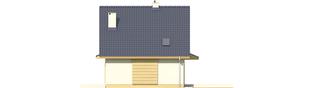 Projekt domu Adriana - elewacja prawa