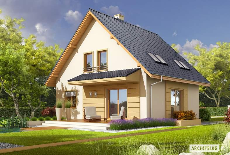 Projekt domu Adriana - wizualizacja ogrodowa