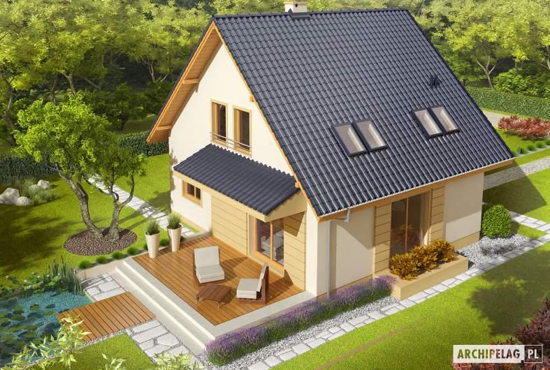 Projekt domu Adriana - widok z góry
