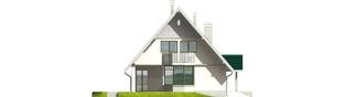 Projekt domu Hania G1 - elewacja lewa