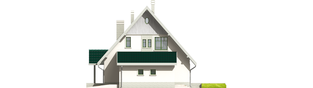 Projekt domu Hania G1 - elewacja prawa