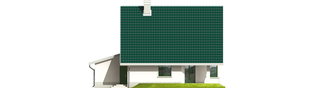 Projekt domu Hania G1 - elewacja tylna