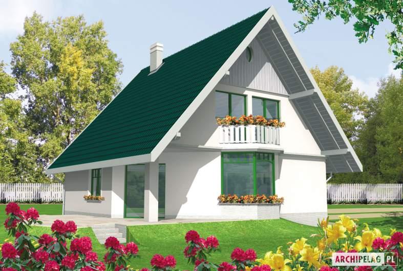 Projekt domu Hania G1 - wizualizacja ogrodowa