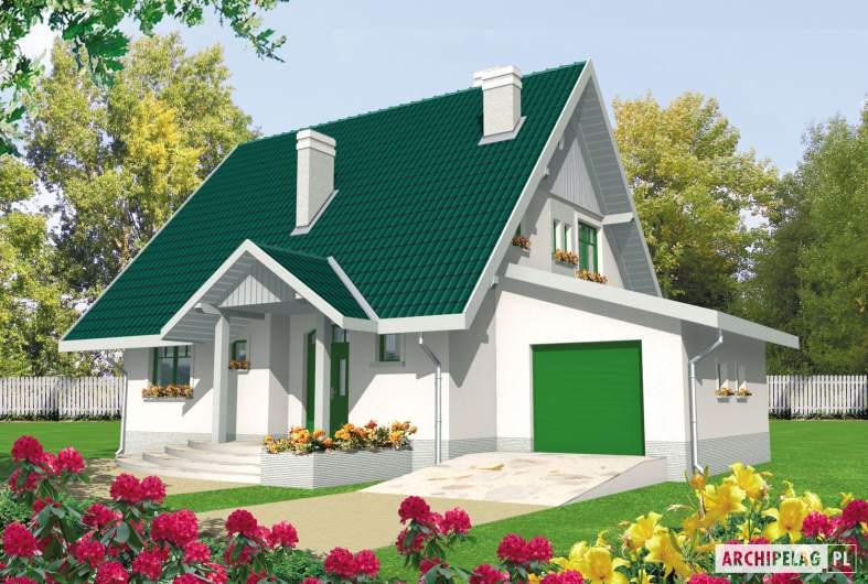 Projekt domu Hania G1 - wizualizacja frontowa
