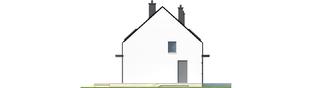 Projekt domu E1 II ECONOMIC (wersja A) - elewacja lewa