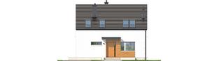 Projekt domu E1 II ECONOMIC (wersja A) - elewacja frontowa