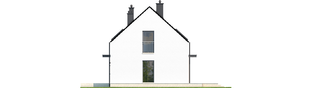 Projekt domu E1 II ECONOMIC (wersja A) - elewacja prawa