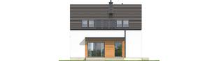 Projekt domu E1 II ECONOMIC (wersja A) - elewacja tylna