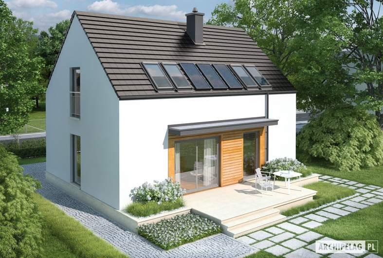 Projekt domu E1 II ECONOMIC (wersja A) - widok z góry
