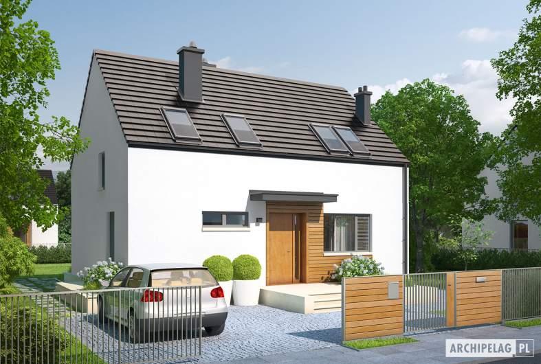 Projekt domu E1 II ECONOMIC (wersja A) - wizualizacja frontowa