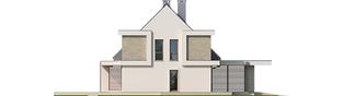 Projekt domu Oliwier z wiatą (bliźniak) - elewacja lewa