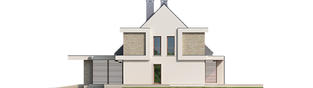 Projekt domu Oliwier z wiatą (bliźniak) - elewacja prawa