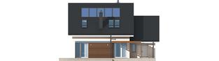 Projekt domu Leosia G1 ENERGO - elewacja tylna