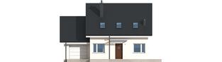 Projekt domu Leosia G1 ENERGO - elewacja frontowa