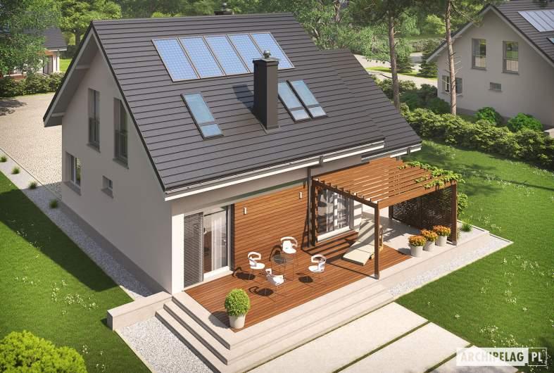 Projekt domu Leosia G1 ENERGO - widok z góry