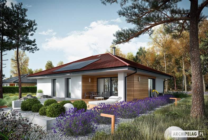 Projekt domu Mini 4 PLUS reco - wizualizacja ogrodowa