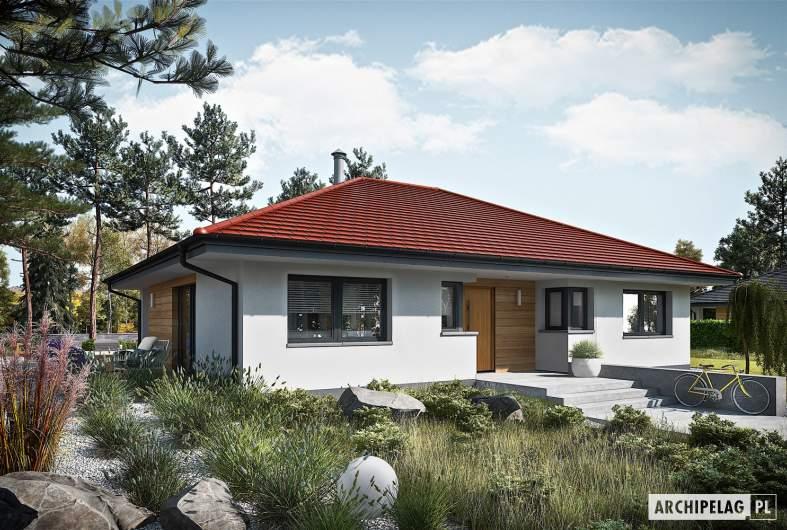 Projekt domu Mini 4 PLUS reco - wizualizacja frontowa