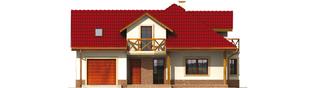 Projekt domu Rene G1 - elewacja frontowa