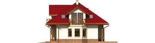 Projekt domu Rene G1 - elewacja prawa