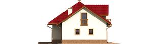Projekt domu Rene G1 - elewacja lewa