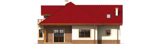 Projekt domu Rene G1 - elewacja tylna