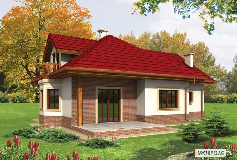 Projekt domu Rene G1 - wizualizacja ogrodowa