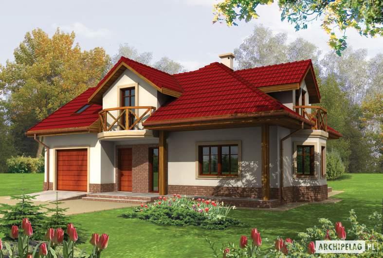 Projekt domu Rene G1 - wizualizacja frontowa