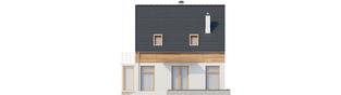 Projekt domu Apolonia - elewacja tylna
