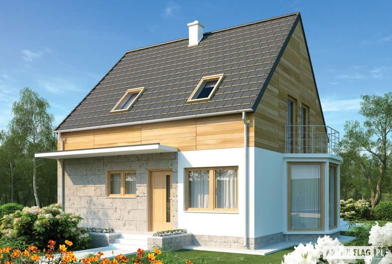 Projekt domu Apolonia - wizualizacja frontowa