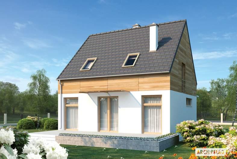 Projekt domu Apolonia - wizualizacja ogrodowa