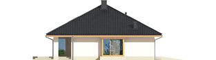 Projekt domu Flori III G1 ECONOMIC (wersja A) - elewacja lewa