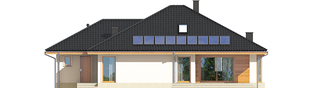 Projekt domu Flori III G1 ECONOMIC (wersja A) - elewacja tylna