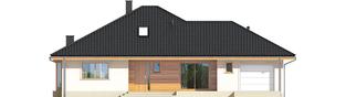 Projekt domu Flori III G1 ECONOMIC (wersja A) - elewacja frontowa