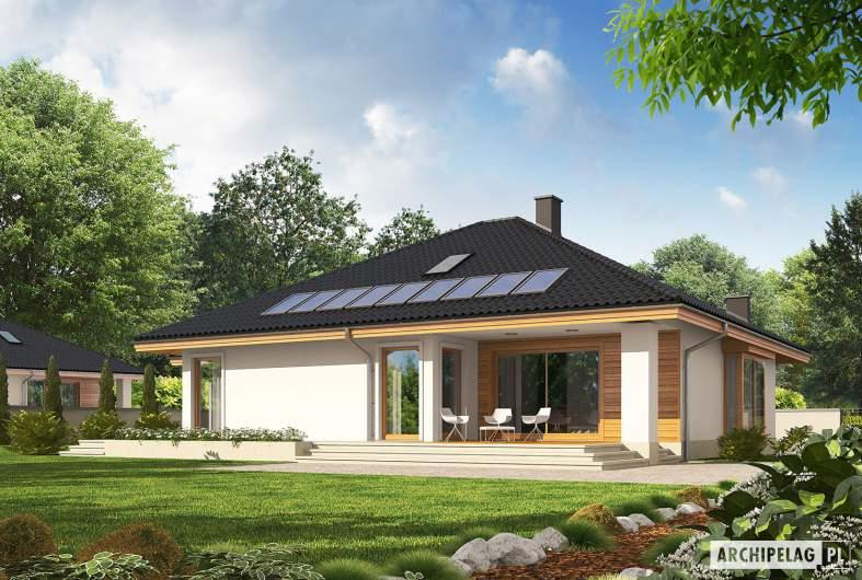 Projekt domu Flori III G1 ECONOMIC (wersja A) - wizualizacja ogrodowa