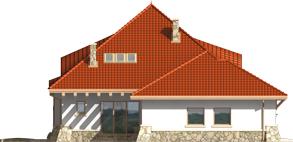 Gustav G2 - Projekt domu Gustaw G2 - elewacja lewa