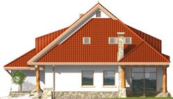 Gustav G2 - Projekt domu Gustaw G2 - elewacja prawa