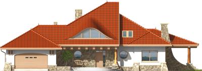 Gustav G2 - Projekt domu Gustaw G2 - elewacja frontowa