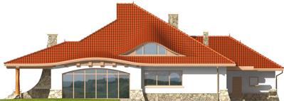 Gustav G2 - Projekt domu Gustaw G2 - elewacja tylna